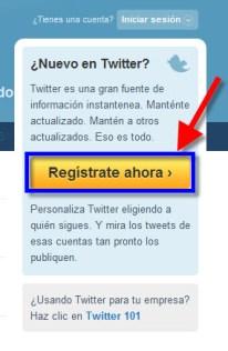 Twitter 1 Como crear una cuenta en Twitter