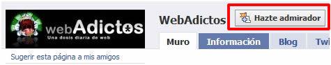 fan facebook webadictos Se el más webAdicto en Facebook y gana una Dell mini 10