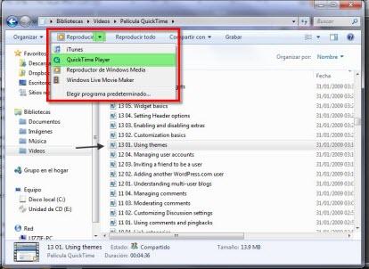 Quick Time 4 Como abrir archivos .mov en Windows