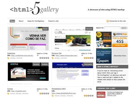 galeria sitios html5 2 Galería de sitios en html5