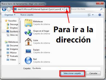 inicio rapido 21 Agrega la barra de Inicio rápido a la barra de tareas en Windows 7