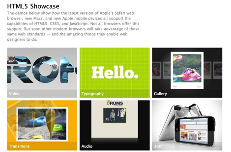 Apple HTML5 Demos html5 hechos por Apple