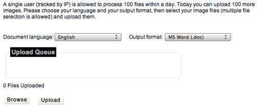 Captura de pantalla 2010 06 20 a las 17.02.27 Como convertir documentos escaneados a texto con OCR Online