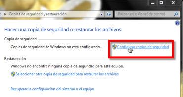 configurar respaldo archivos Como Respaldar tus archivos en Windows