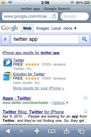 google busquedas destacadas Aplicaciones de iPhone y Android agregadas en Google