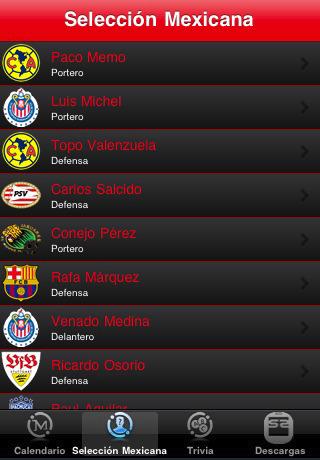 mexico en sudafrica lite Mundial 2010 en iPhone