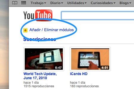 personalizar pagina youtube 1 Como personalizar la pagina principal de YouTube