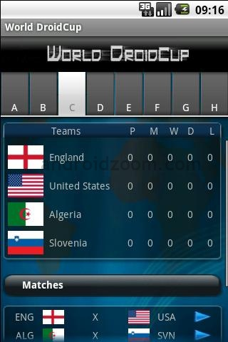 world droid cup Mundial Sudafrica 2010 en tu android