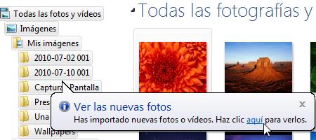 Importar fotos camara galeria fotografica windows 9 Importar fotos con Galería de Fotos de Windows Live
