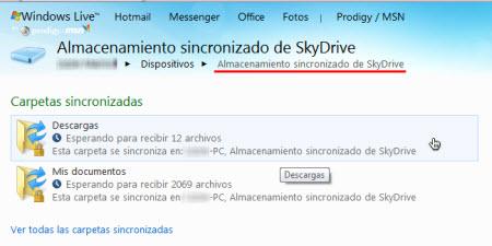 almacenamiento sincronizado de skydrive Configurar Windows Live Sync Beta