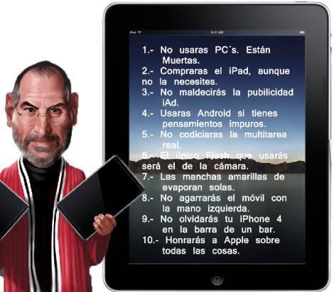 apple 10 mandamientos Los 10 Mandamientos de Apple [Humor]