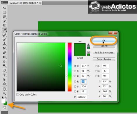colo de fondo photoshop Crear una cinta adhesiva en Photoshop