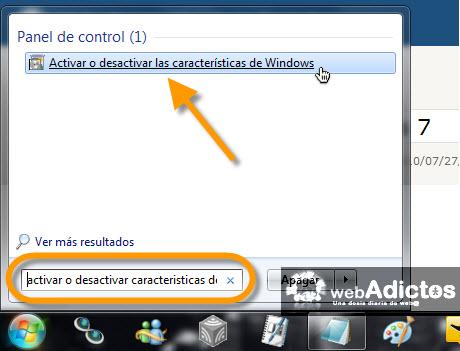 desactivar caracteristicas windows Desactivar juegos en Windows 7