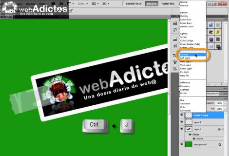 duplicar capa photoshop1 Crear una cinta adhesiva en Photoshop