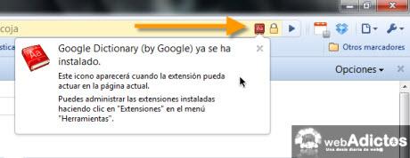 google.dictionary instalado Agregar diccionario de Google en Chrome