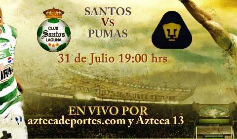 santos pumas en vivo apertura 2010 Santos vs Pumas en vivo, Apertura 2010