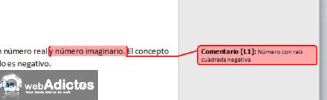 comentarios en documentos Insertar comentarios en Word 2010
