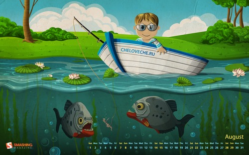 fondos gratis piranha fishing Fondos de pantalla, Agosto 2010