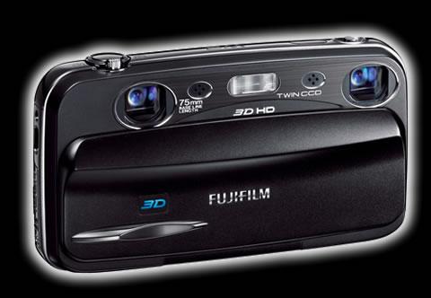 fujifilm 3d w3 Fujifilm 3D W3, Cámara que graba video 3D HD