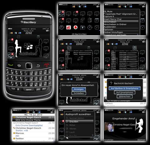 temas blackberry chicas Temas blackberry, Girls Chrome