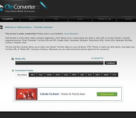 ClipConverter Convierte archivos online con ClipConverter