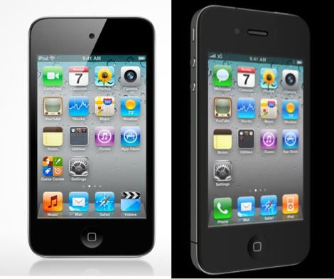 iphone 4 vs ipod touch iPhone 4 vs iPod Touch, pantalla y cámara frente a frente