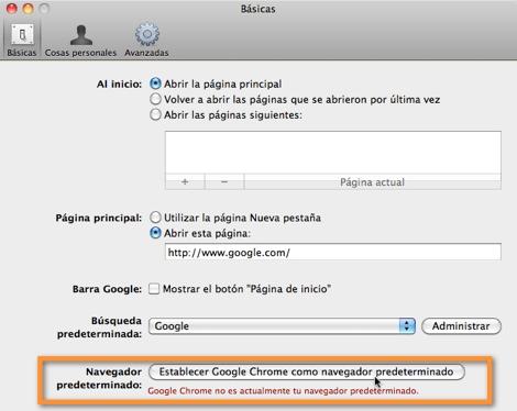 navegador predeterminado Como cambiar el navegador predeterminado en Mac