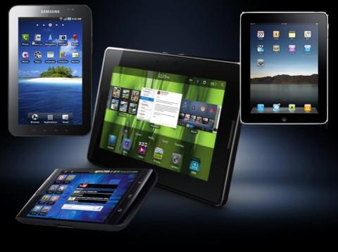 tablets2 La batalla de las tablets, iPad vs Playbook vs Galaxy vs Streak