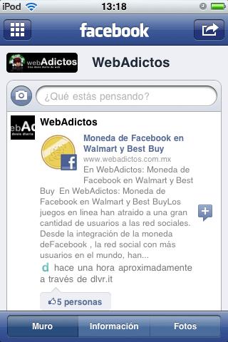 facebook iphone paginas webadictos Como manejar páginas en Facebook desde tu iPhone
