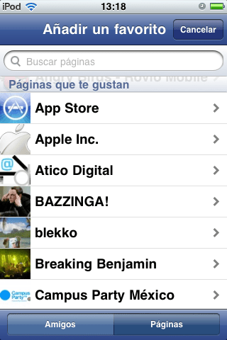fadebook iphone elegir pagina 2 Como manejar páginas en Facebook desde tu iPhone