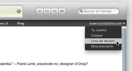 hacer lista deseos itunes 6 Hacer lista de deseos en iTunes Store