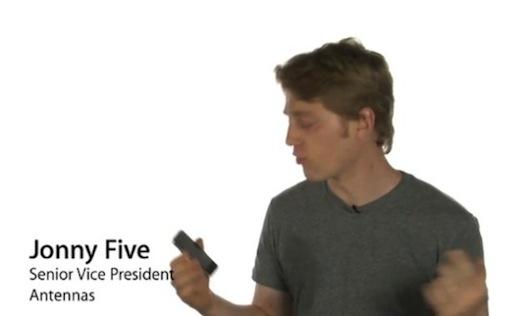 Parodia del lanzamiento del iPhone 4 Blanco