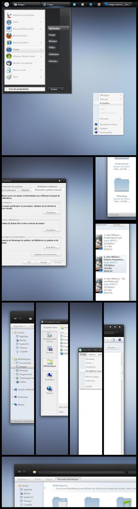 temas para windows Temas windows 7, Adagio