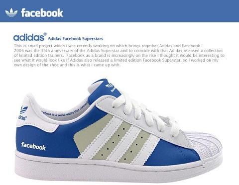 adidas tenis facebook Adidas pondrá a la venta tenis de Facebook y Twitter