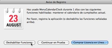 iCal desplegable Mostrar un calendario desplegable en la barra de menús de Mac OSX