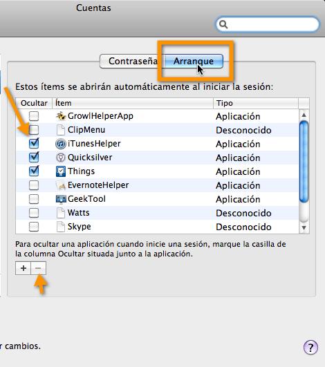 arranque mac Como configurar programas de arranque en Mac
