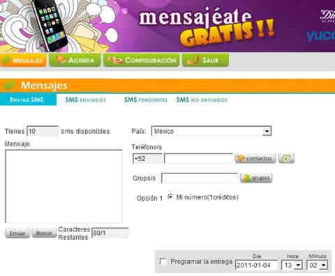 mensajes celular gratis Mensajes a celular gratis, yucatan.com.mx