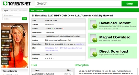 buscador torrents Buscar torrents en Torrents.net