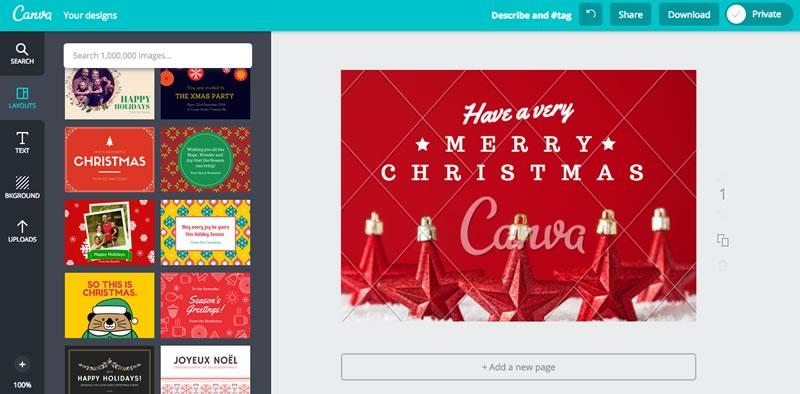 Crear postal de navidad con tu foto for Crear tarjetas de navidad