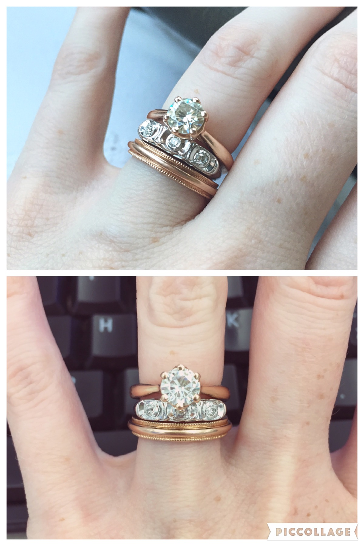 let me see your stacked rings wedding ring spacer IMG