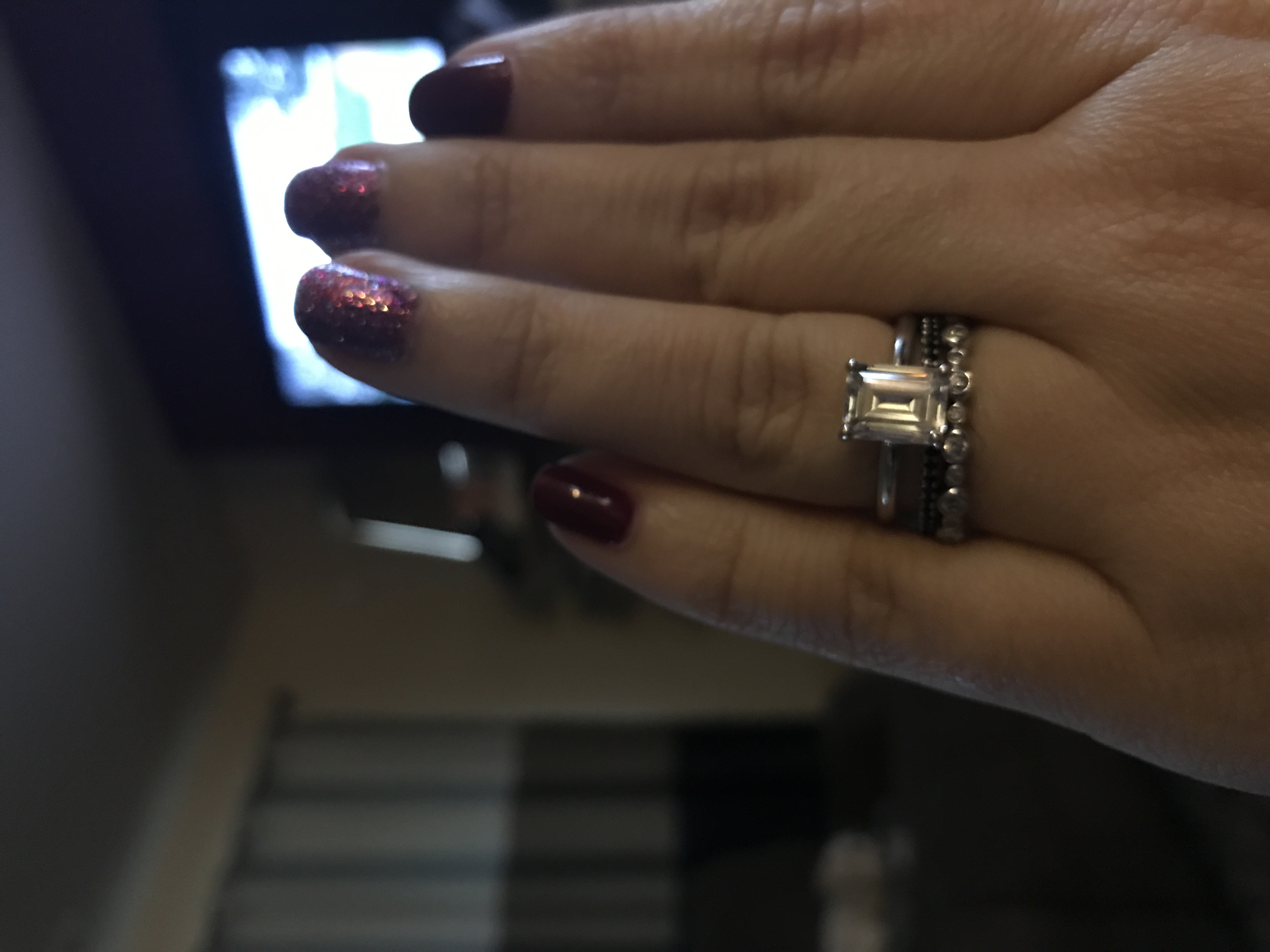 1mm spacer rings pictures please wedding ring spacer Mine is a set from Berricle but I m definitely tempted to upgrade to moissy or diamonds I really love this I wear it on my right hand