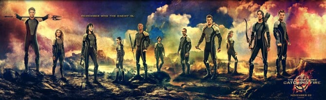 lionsgate releases victoru s banner for the hunger games catching fire The Hunger Games Victors Banner with Katniss and Peeta 670x206