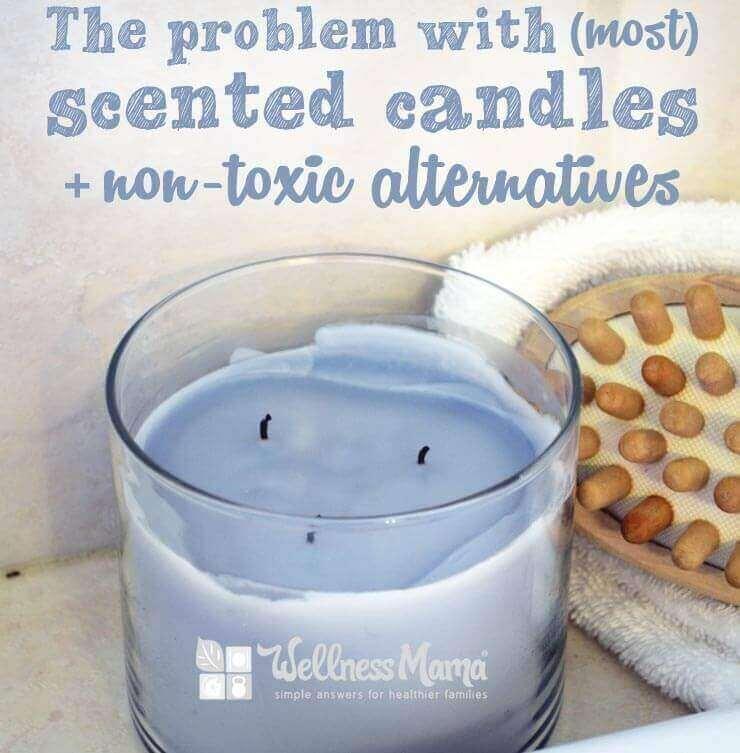 The problem with most scented candles and non toxic alternatives
