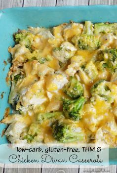 Low-carb, gluten-free Chicken Divan Casserole recipe! THM S