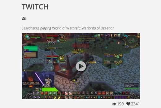 Twitch widget preview