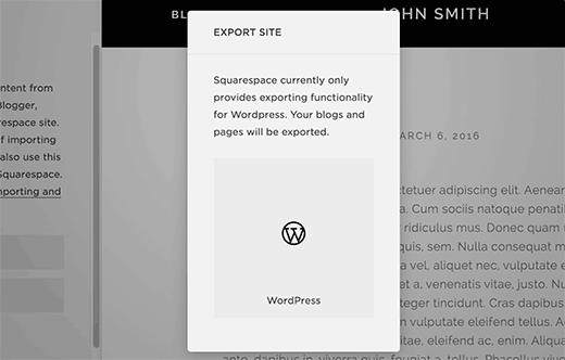Site export