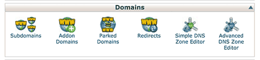 Subdomains icon in cPanel