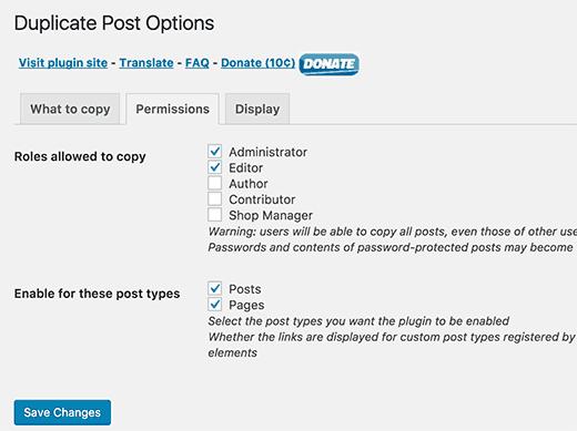 Duplicate Post permissions
