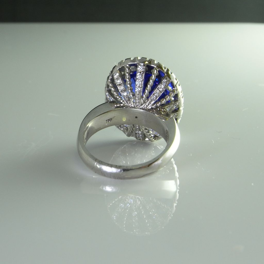 10 ct Finest Tanzanite Diamond VS tanzanite wedding rings Roll over Large image to magnify click Large image to zoom