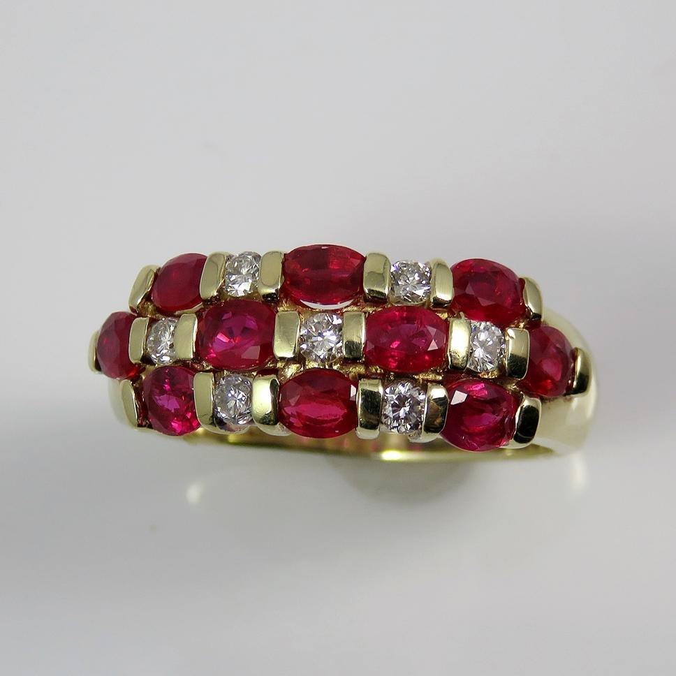 Ruby Diamond Ring Ruby Diamond Band ruby wedding rings Roll over Large image to magnify click Large image to zoom